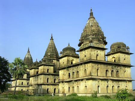 nandi: Old temples and palaces, Orchha, India