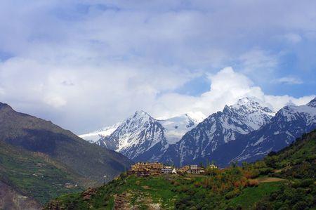ancient yoga: Buddhist monastery, The Himalayas, Ladakh