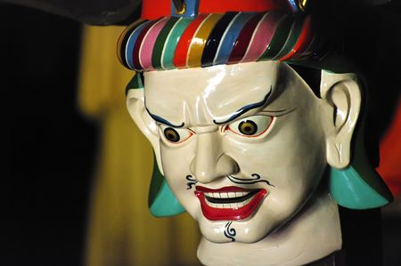 Buddhist ritual mask, The Himalayas, Ladakh  photo