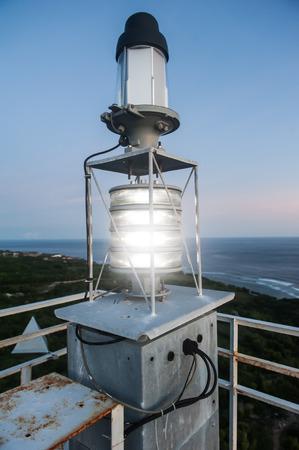 Metal construction Lighthouse. Ungasan, Bali, Indonesia. Lamp capacity is 350 W.pp Фото со стока