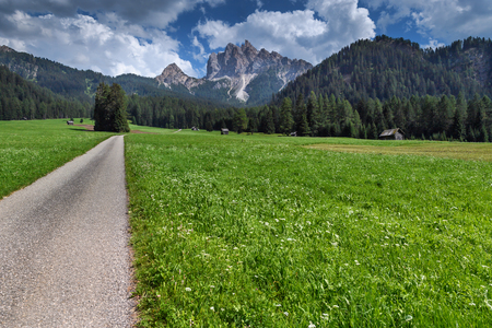 hiking in the high mountains of Tirol