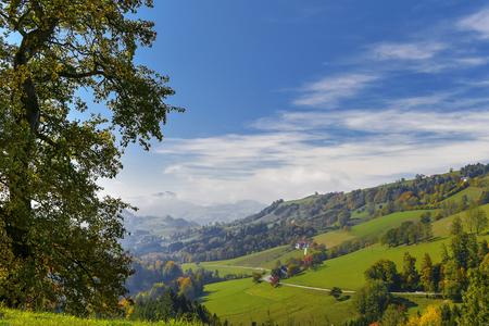 hiking in Mostviertel Austria Alps Banco de Imagens