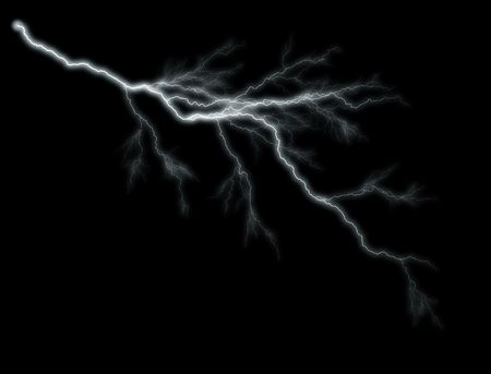 illustrates: Lightning Illustration on Black