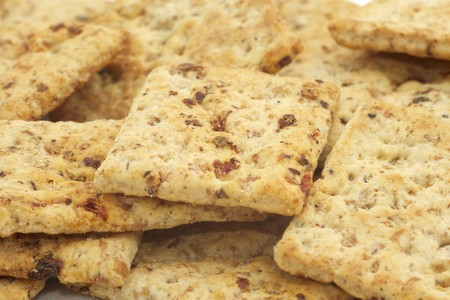 Pile of Whole Grain Snack Crackers