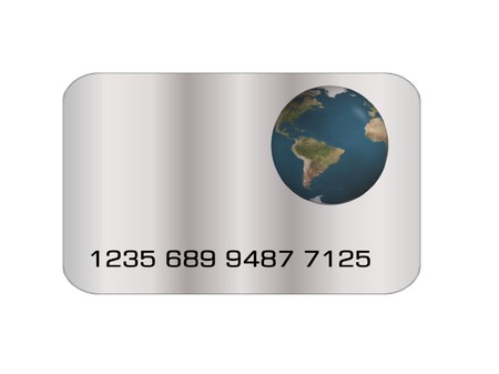 credit card earth Stock Photo