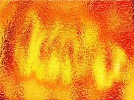 distort: fire under gel or water illustration Stock Photo