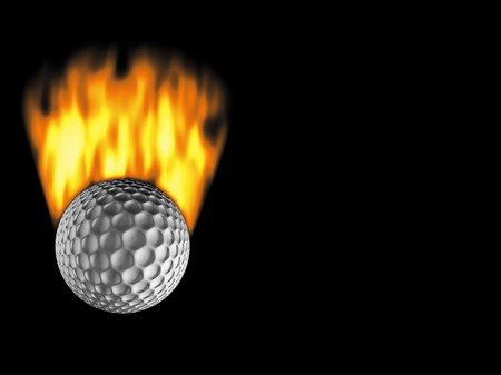 great golf ball of fire Stock Photo