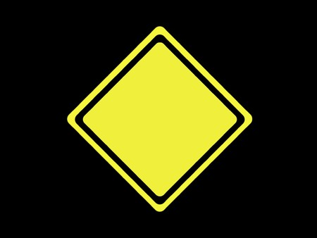 blank constructions sign yellow