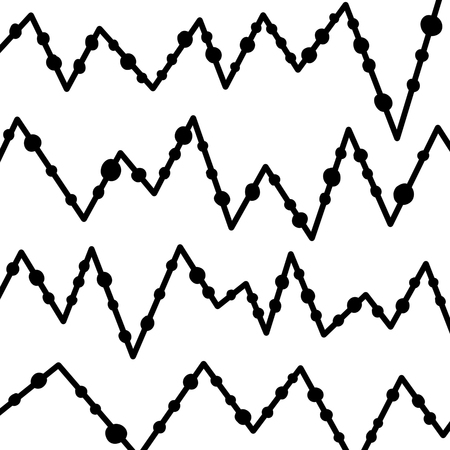 Hand Drawn lined pattern with dots isolated on white, hand drawn illustration.