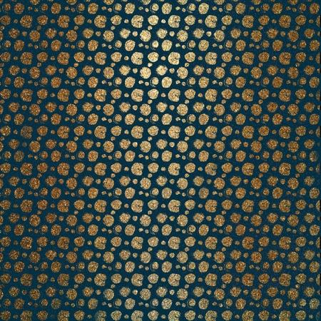 Elegant royal gold circle pattern on a coloured background, Illustration.