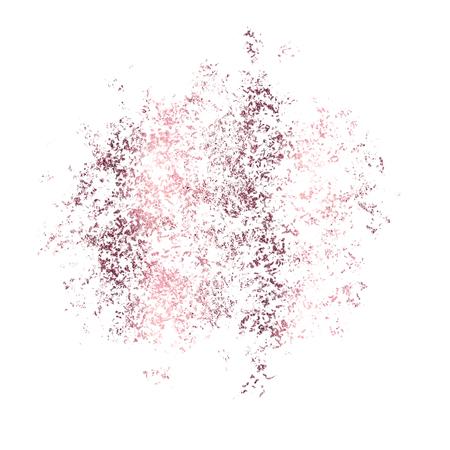 Metallic pink foil splatter isolated on white, Illustration. 版權商用圖片