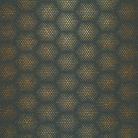 Golden Speckled Honeycomb  Hexagon Patterned paper background, Illustration. 版權商用圖片