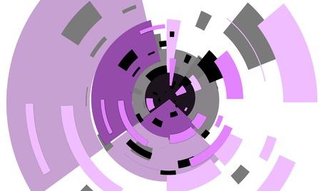 orbiting: Purple and black squares orbiting centre