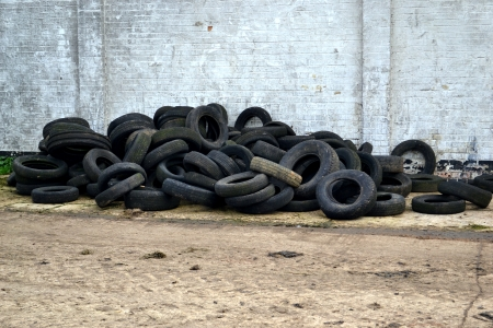 Tyres let loose  Stock Photo
