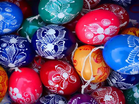Painted eggs photo