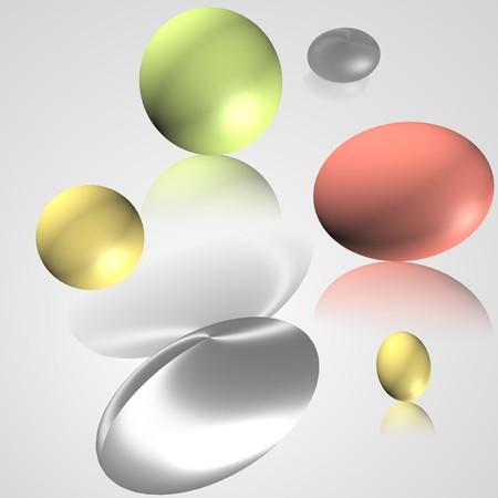 blake and white: 3D eggs Stock Photo