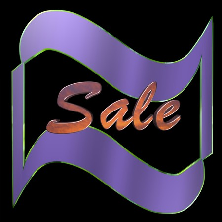 blake and white: Sale 3D icon