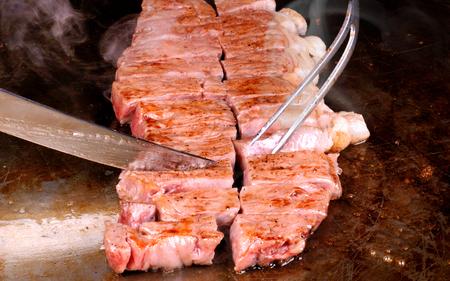cook griddle: Japanese wagyu kobe or miyasaki japan great beef and expensive