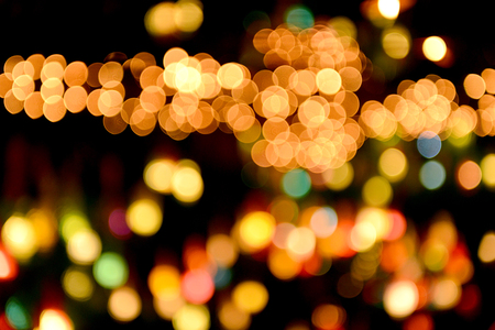 shinning: New year light bokeh beautiful and shinning in night