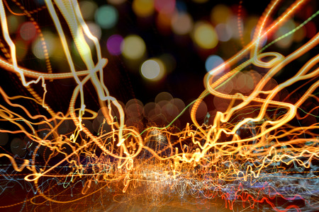 shinning light: New year light bokeh beautiful and shinning in night