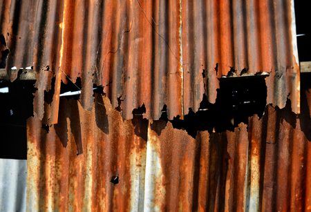 galvanised: old and rusty galvanised on poor house textureand color from past time Stock Photo