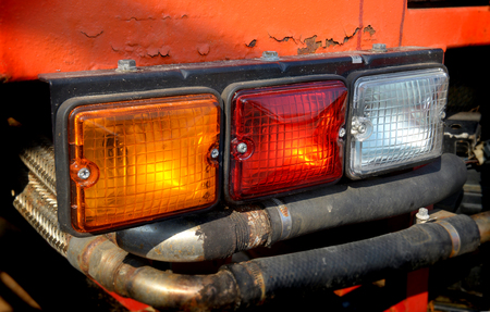 taillight: three color taillight lamp of 4wd truck Stock Photo