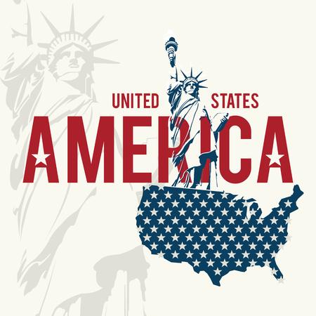 USA design over white background, illustration. Çizim