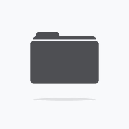 Folder icon. Vector illustratie.