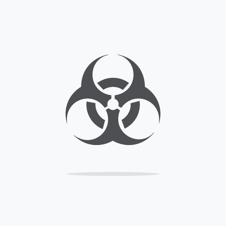 biohazard: Biohazard sign icon. Vector illustration.