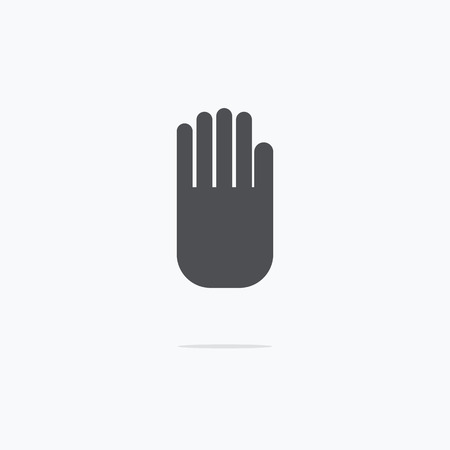stop hand silhouette: Stop hand Icon. Vector illustration. Illustration