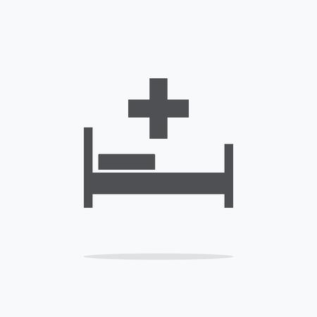 Hospital. Hospital Icon on a light background. Vector illustration. Illusztráció