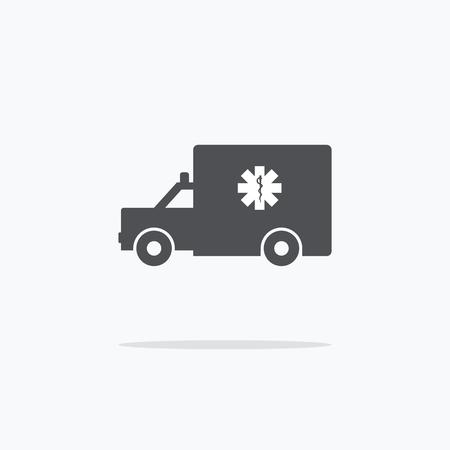 Krankenwagen. Icon Krankenwagen auf einem hellen Hintergrund. Vektor-Illustration. Standard-Bild - 57183330