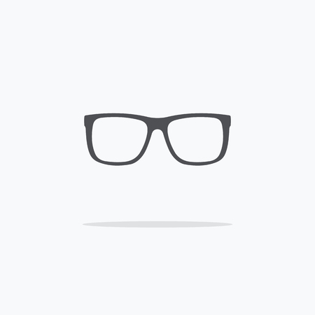 Rim glasses. Icon spectacles. Vector illustration on light background ..