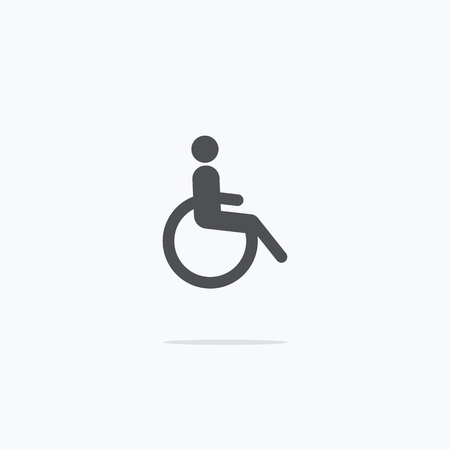 Disabled. Icon disabled. Vector illustration on light background .. 向量圖像