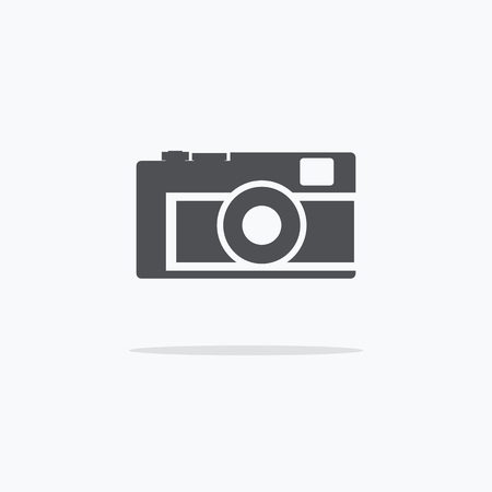 Camera. Icon camera. Vector illustration on a light background. Ilustracja