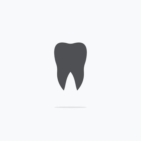 Dentista. Dente. Icon dentista. Illustrazione vettoriale su uno sfondo chiaro. Archivio Fotografico - 57183389