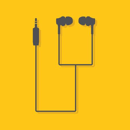 earphones: Earphones. Flat earphones vector image.