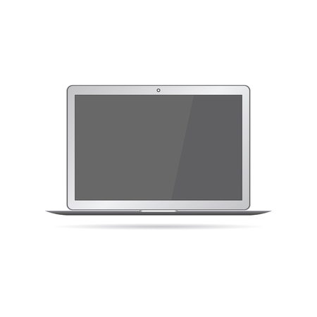 laptop isolated: Modern, realistic glossy laptop, isolated on white background. Vector illustration.