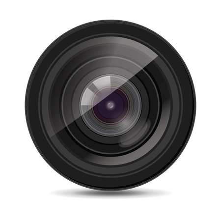 Icon for camera lens. White background. Vector illustration isolated. Иллюстрация