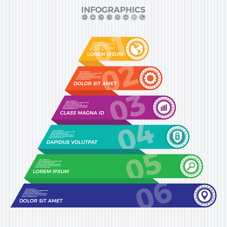 Pyramid info graphic template. Useful for business and financial report.