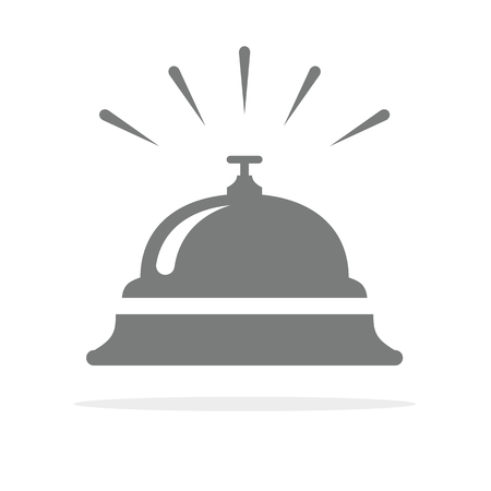 Hotel bell, service bell, reception bell icon. Vector illustration.