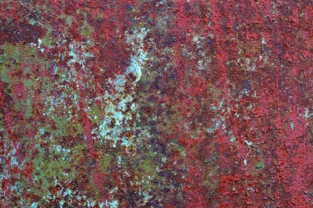 Painted an old rusted metal surface