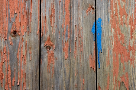 Old worn painted boards
