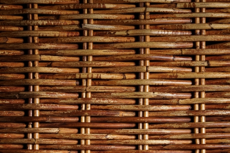 The surface of the woven twigs  Thai rattan  Close-up  Stock Photo