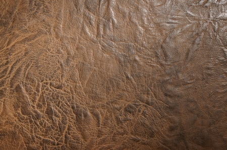 Brown leather close-up                    photo