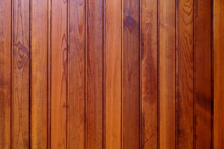 The surface of the boards processed brown lacquer                  Stock Photo
