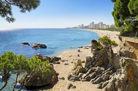 Beautiful beach in Spain, Costa Brava  Playa de Aro                      Stock Photo