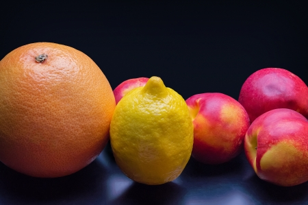 tropical fruit on a dark background Stock Photo - 21451336
