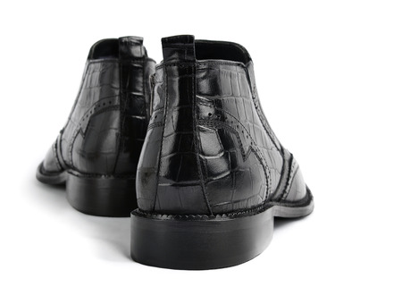 Pair of leather men shoes