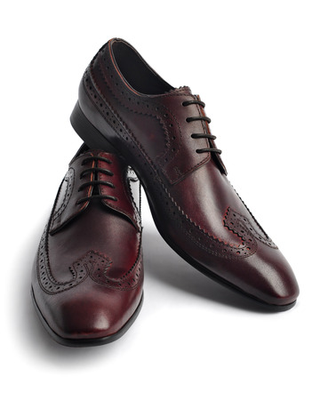 Pair of leather men shoes photo